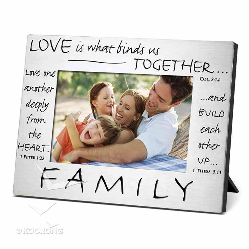 Pewter Photo Frame: Family Homeware