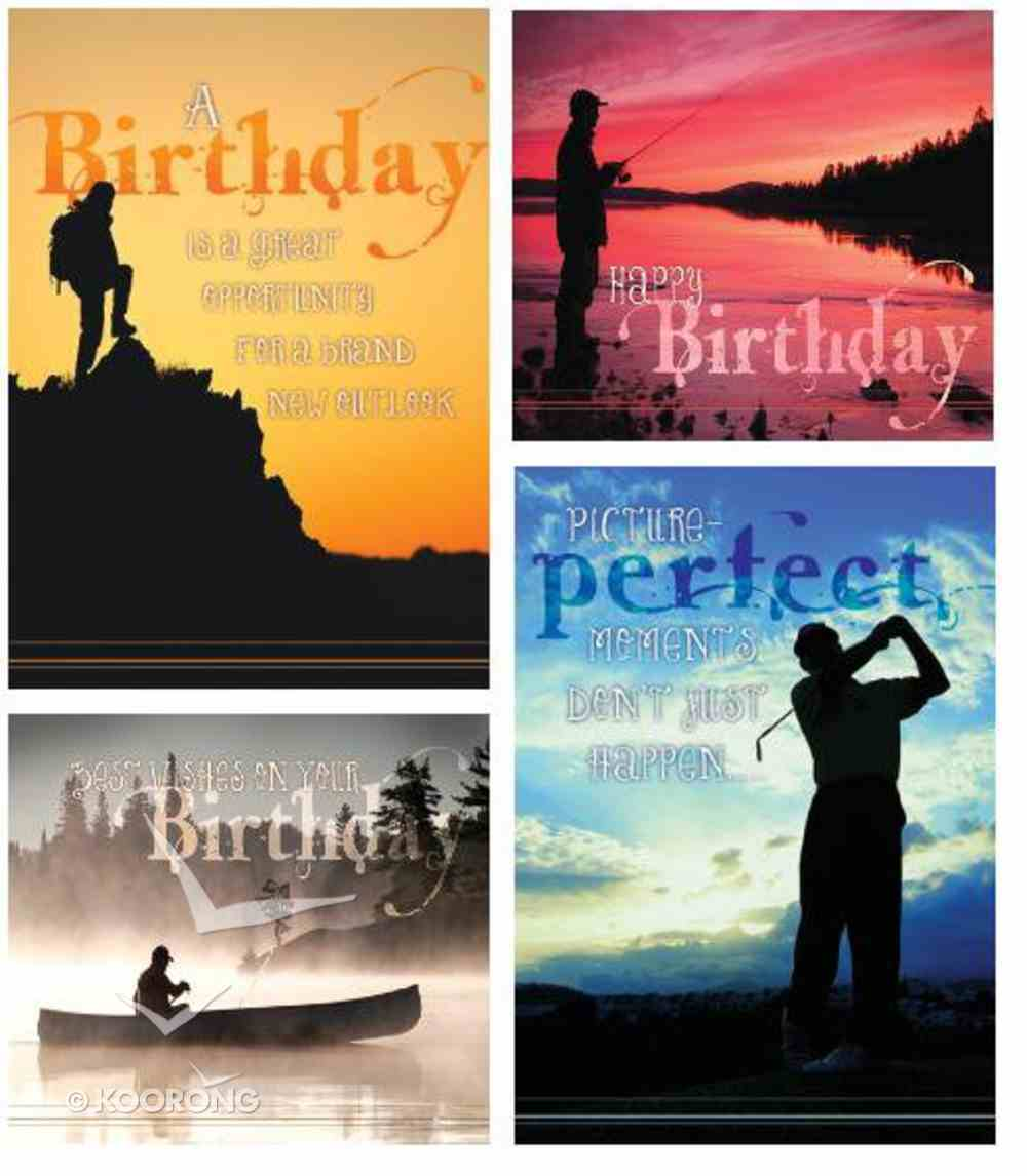 Boxed Cards Christian Art Greetings: Birthday Grand Adventures (4 Designs - 12 Assorted Cards With Kjv Scripture) Box