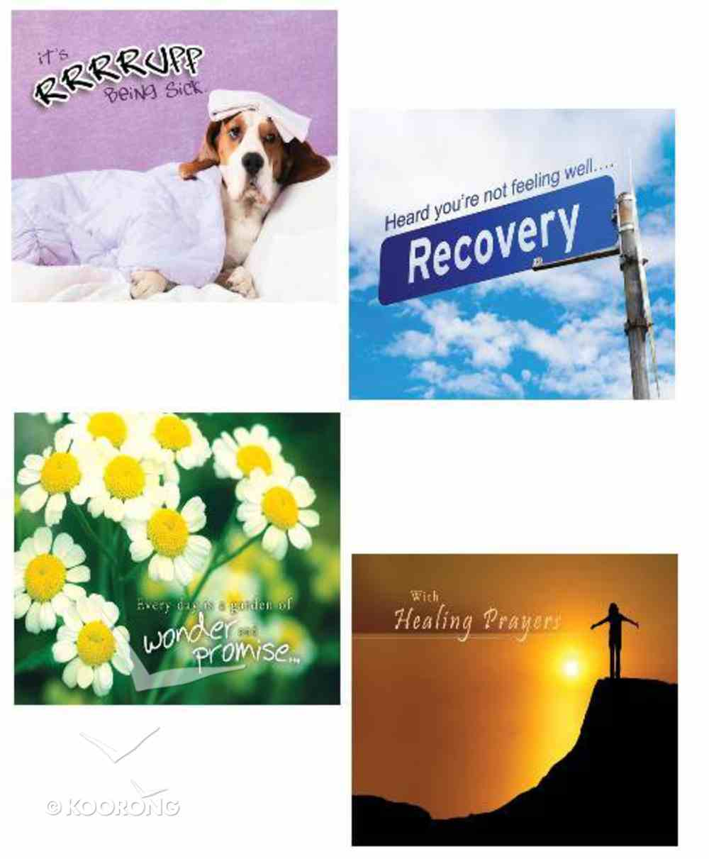 Boxed Cards Christian Art Greetings: Get Well (4 Designs - 12 Assorted Kjv Scripture) Box