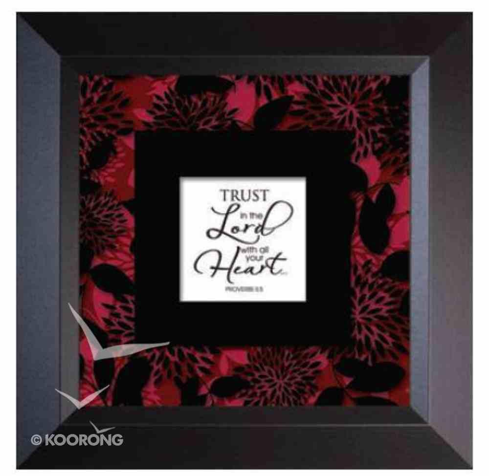 """Truth Squared Frame: Trust - Romans 3:5 (10"""" X 10"""") Plaque"""