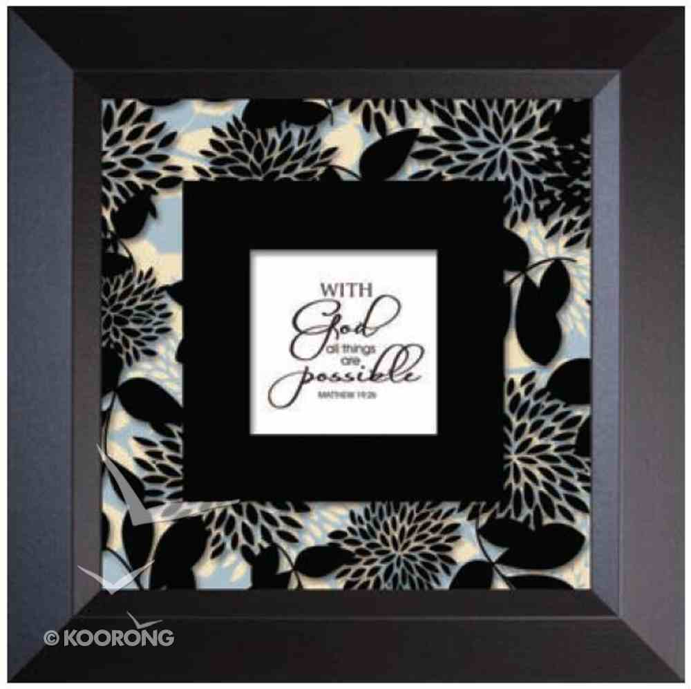 "Truth Squared Frame: With God - Matt 19:26 (10"" X 10"") Plaque"