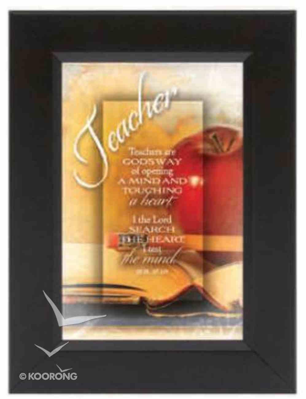 "Shadow Box: Teacher (6"" X 8"") Plaque"
