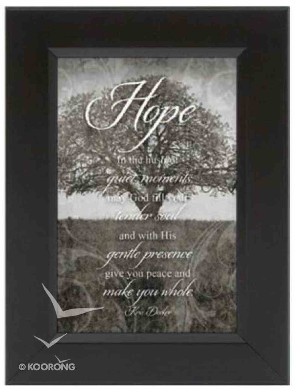 Hope Collection: Shadow Box - Hope Black & White Plaque