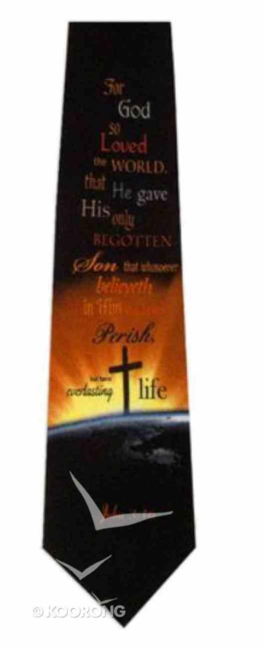 Silk Tie: John 3:16 Ew Soft Goods