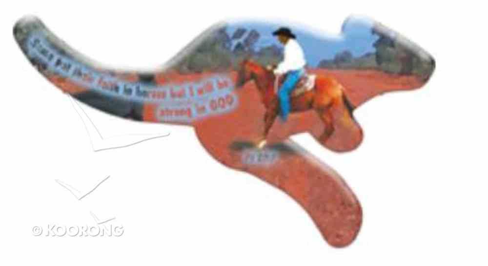 Christian Kangaroo Shaped Resin Fridge Magnet: Stockhorse/ Ps 20:7 Novelty
