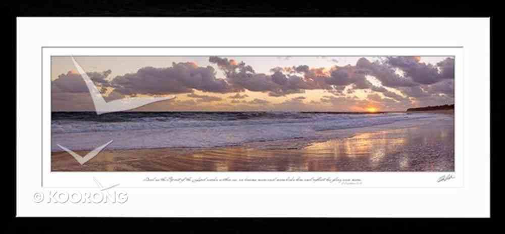 Framed Photo:   The Beach, 2 Cor 3 18 (Kodak Endura Metallic Paper) Plaque