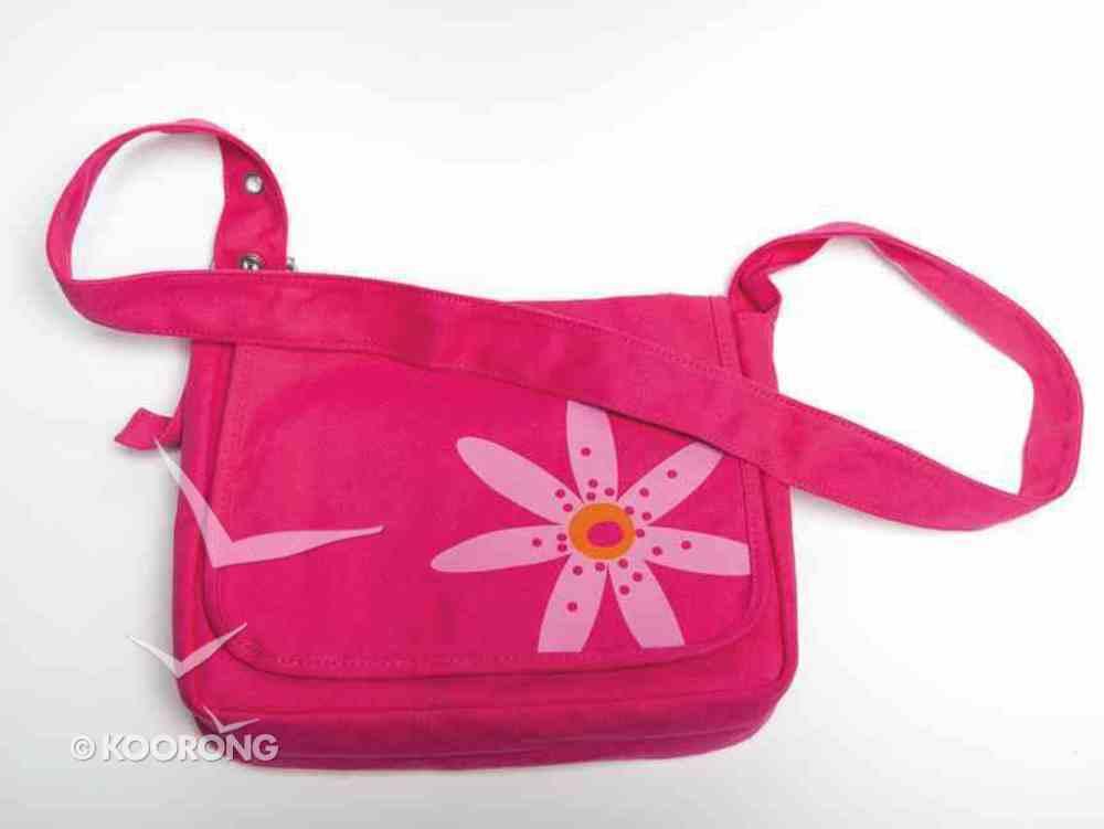 Bible Cover Faithgirlz Messenger Bag Pink Flower Medium Bible Cover