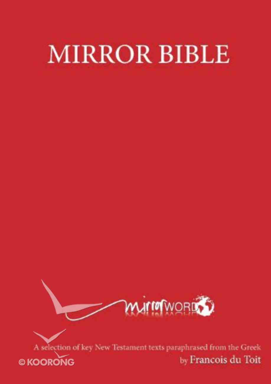 Mirror Bible, the Red Large Print Paperback