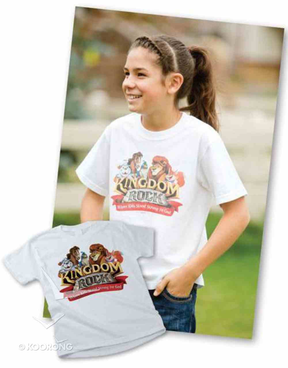 Child Kingdom Rock T-Shirt Med (10-12) (Kingdom Rock Series) Soft Goods