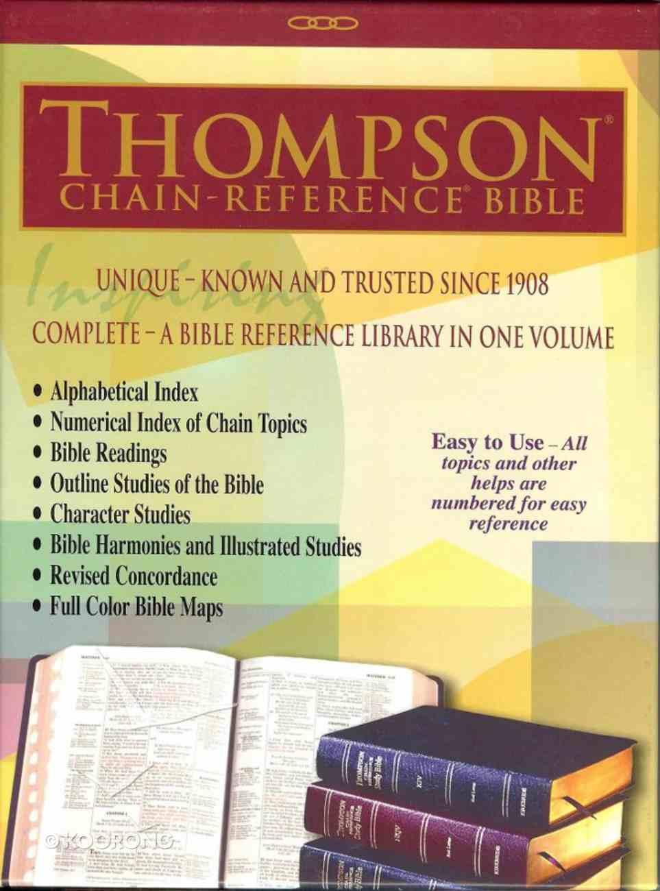 KJV Thompson Chain-Reference Bible Black Genuine Leather