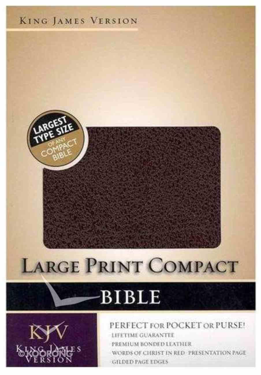 KJV Large Print Compact Bible Burgundy Bonded Leather