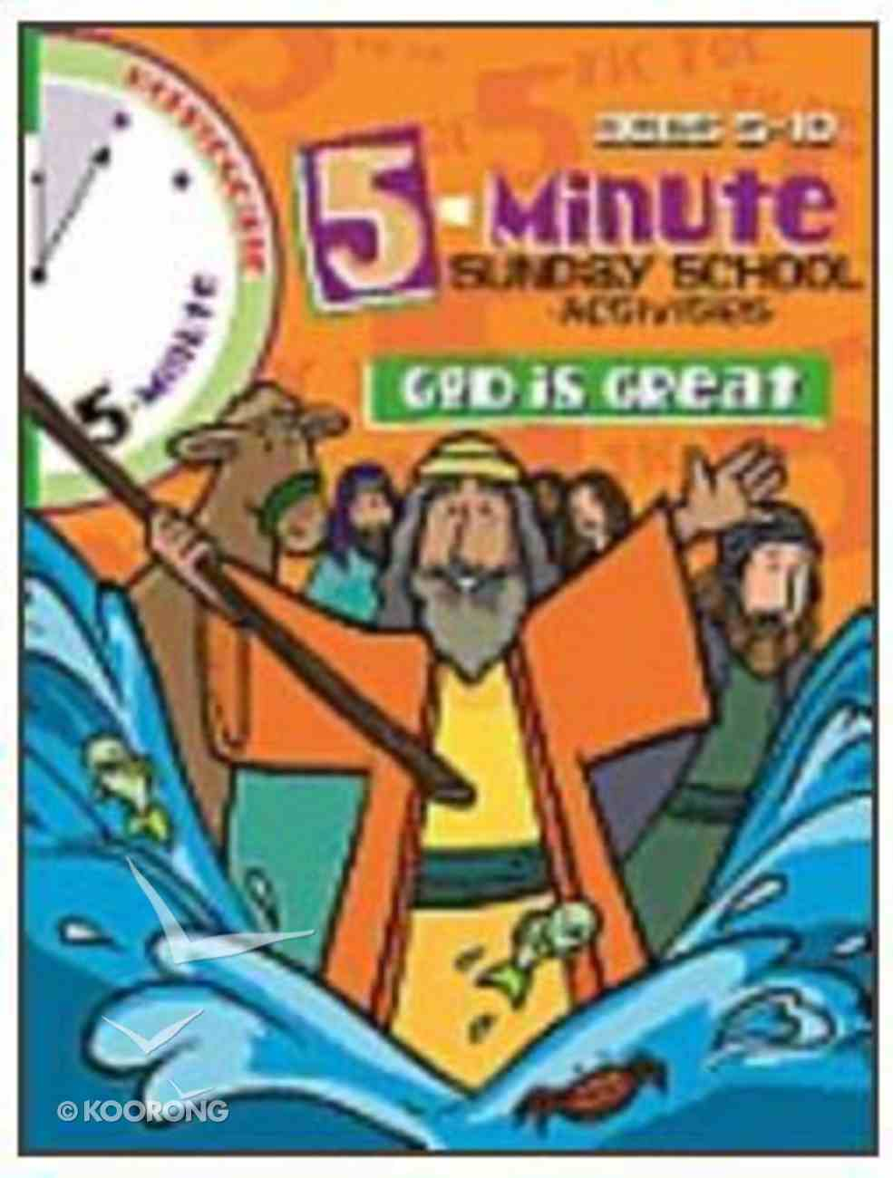 God is Great (Reproducible) (5 Minute Sunday School Activities Series) Paperback