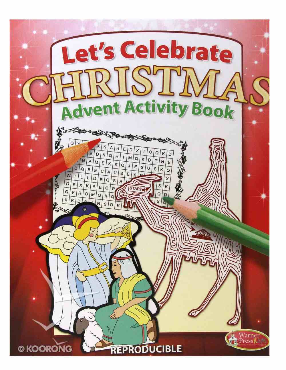 Activity Book: Let's Celebrate Christmas Advent (Reproducible) Paperback