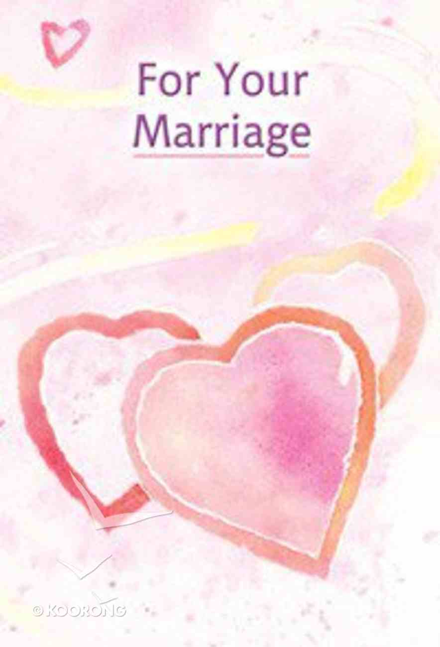 For Your Marriage Hardback