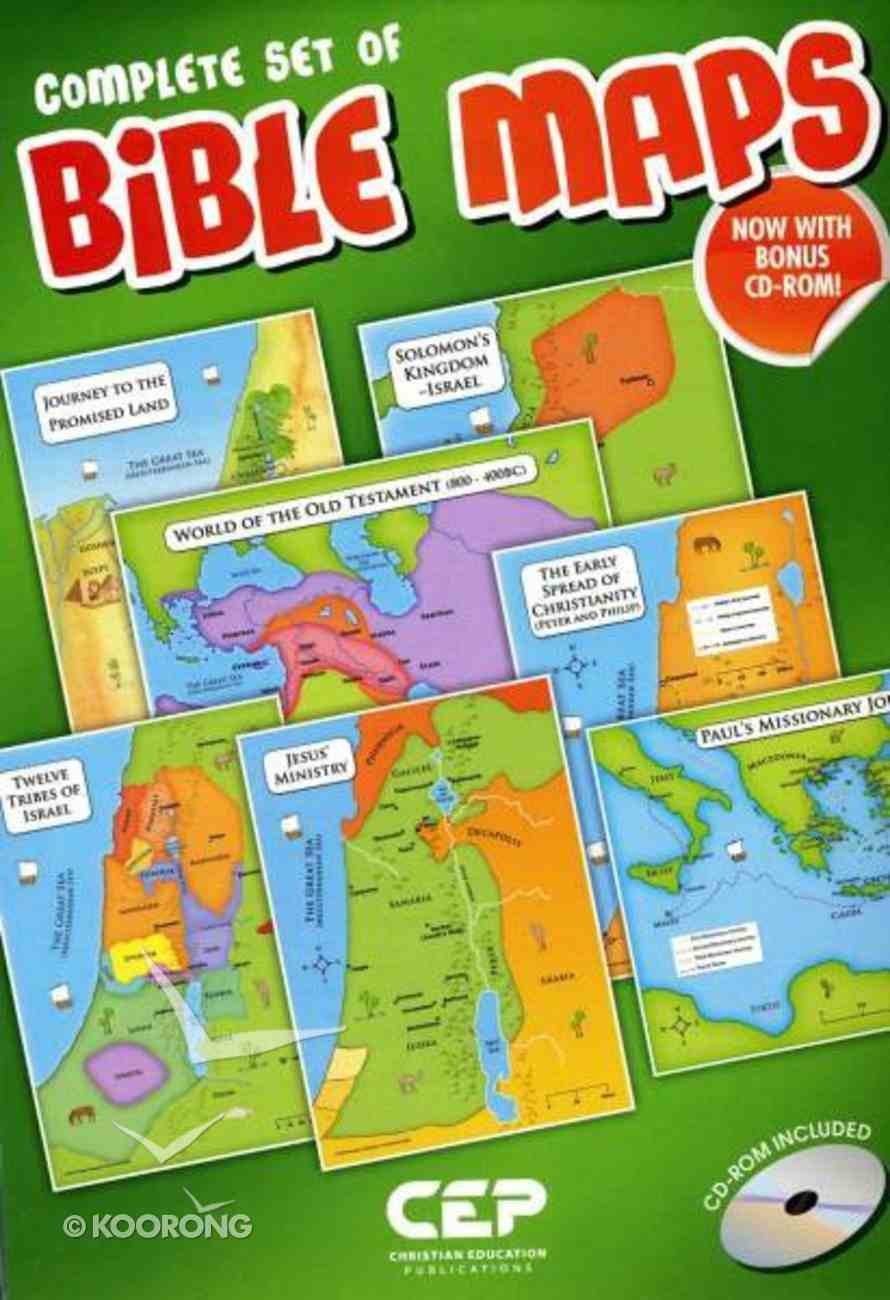 Complete Set of Bible Maps Set of 12 (Includes Cd-rom) Pack