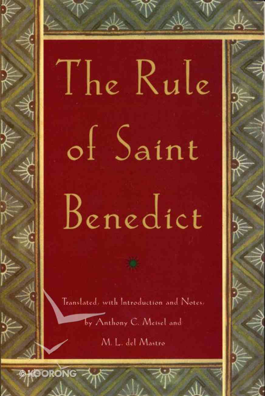 Rule of St Benedict ,The Paperback