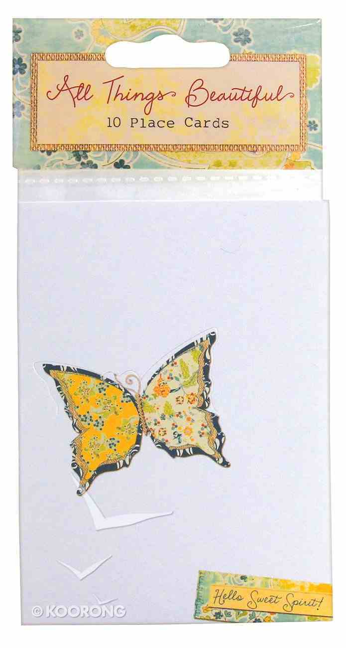 All Things Beautiful: Place Setting Cards (10 Pk) Pack