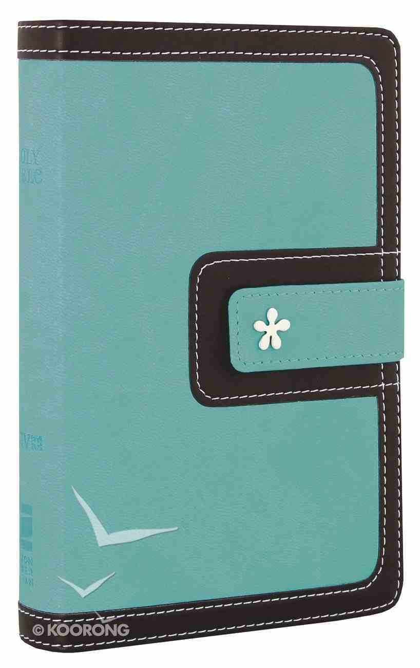 NIV Compact Thinline Bible Turquoise Chocolate (Red Letter Edition) Imitation Leather