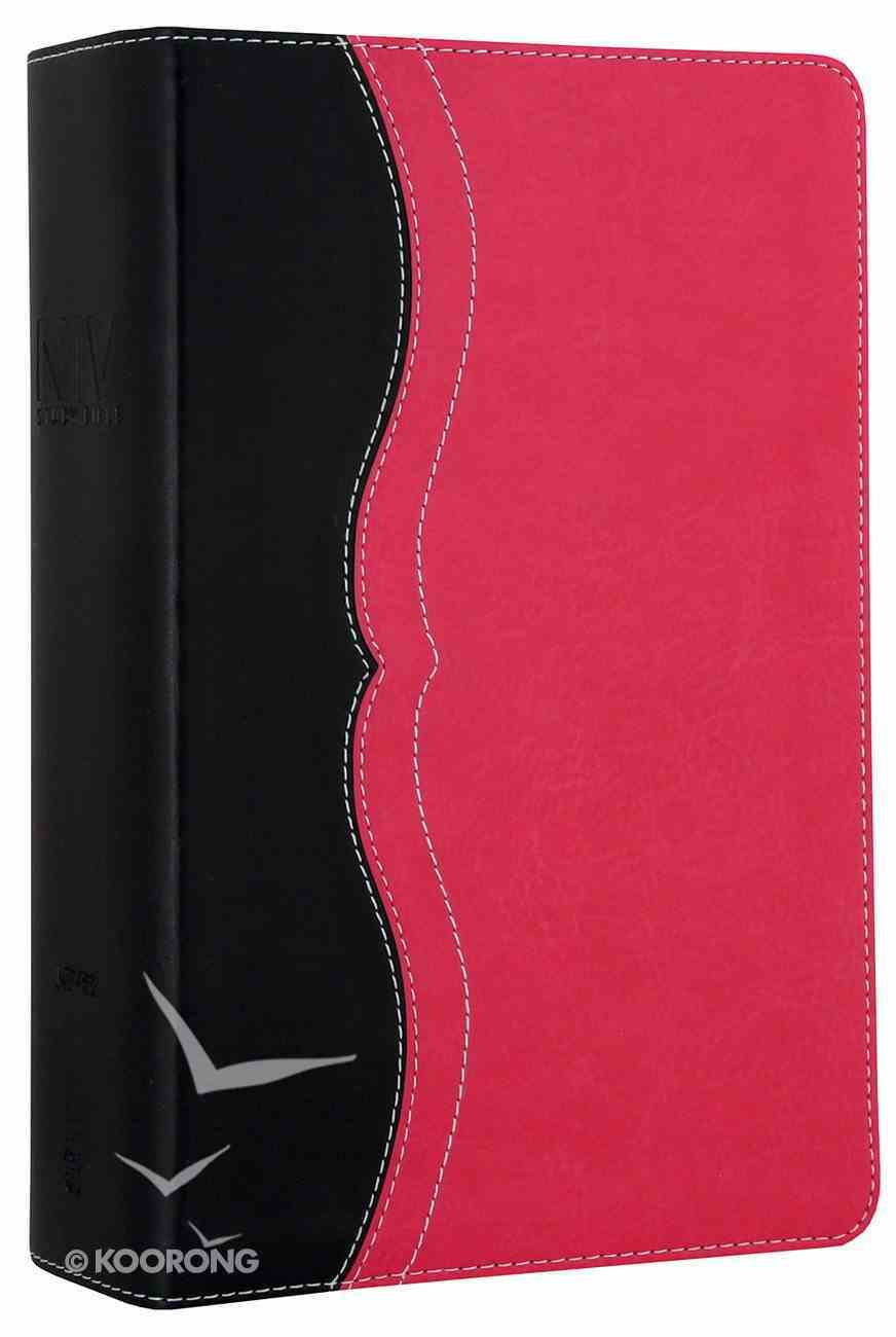 NIV Study Bible Personal Charcoal/Pink (Red Letter Edition) Premium Imitation Leather