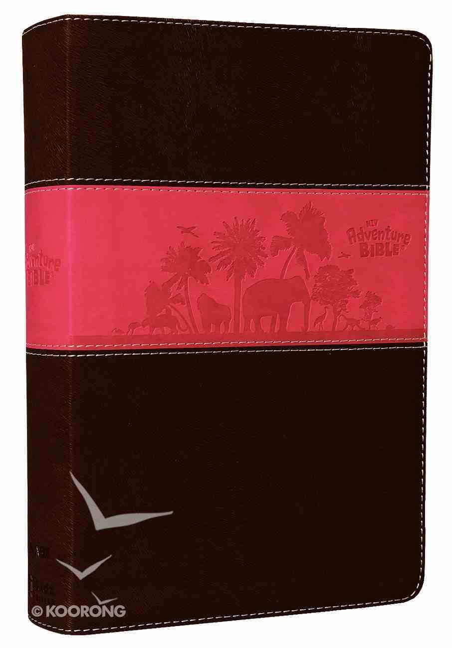 NIV Adventure Bible Chocolate/Hot Pink Duo-Tone Imitation Leather