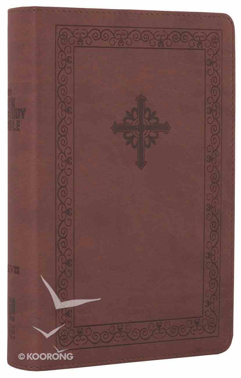 NIV Teen Study Bible Compact Sienna Celtic Cross (Black Letter Edition) Premium Imitation Leather