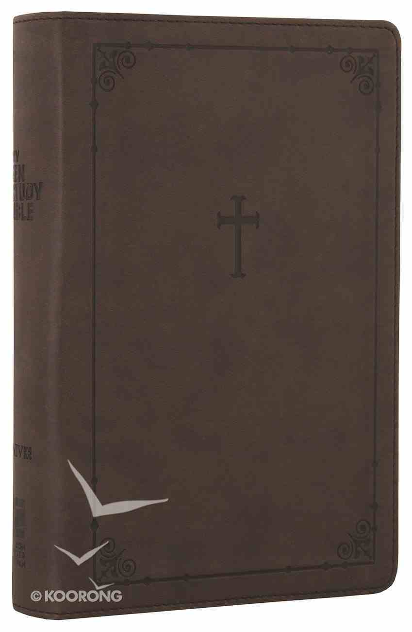 NIV Teen Study Bible Compact Chocolate Cross (Black Letter Edition) Premium Imitation Leather