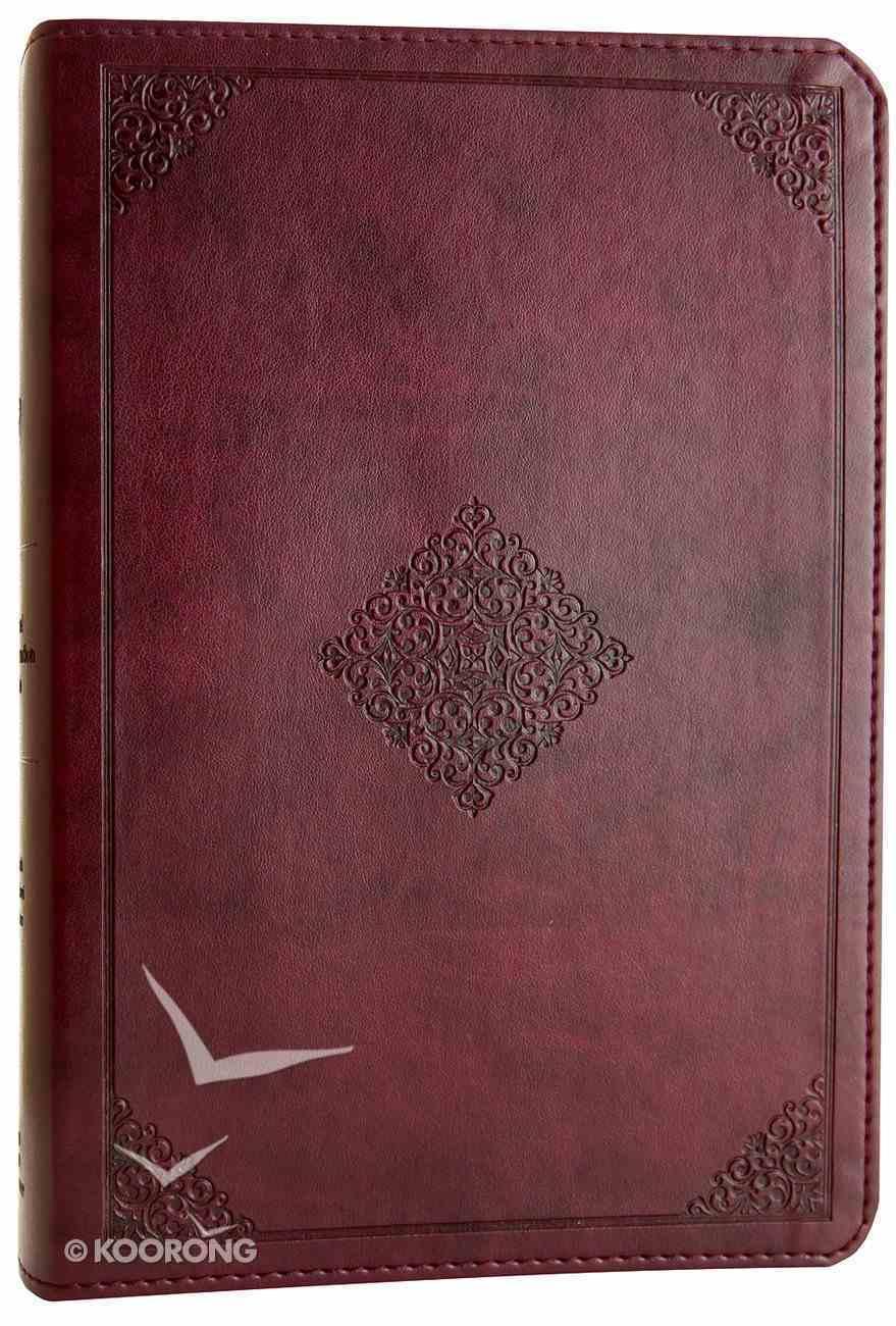 ESV Gospel Transformation Bible Mahogany Trutone Ornament Design (Black Letter Edition) Imitation Leather