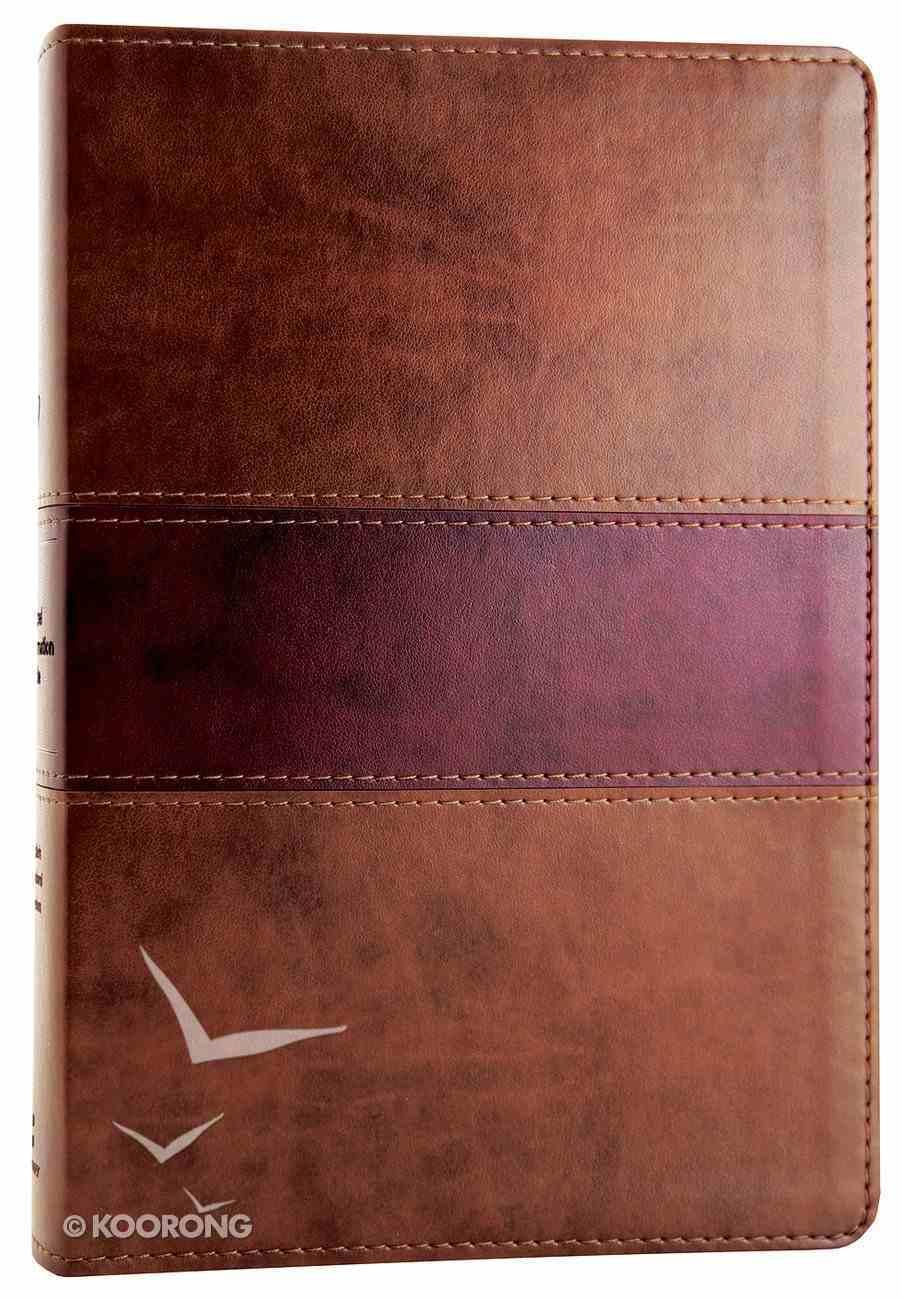 ESV Gospel Transformation Bible Chocolate/Plum Trutone Trail Design (Black Letter Edition) Imitation Leather