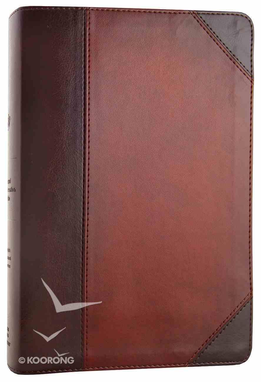 ESV Gospel Transformation Bible Brown/Walnut Trutone Portfolio Design (Black Letter Edition) Imitation Leather