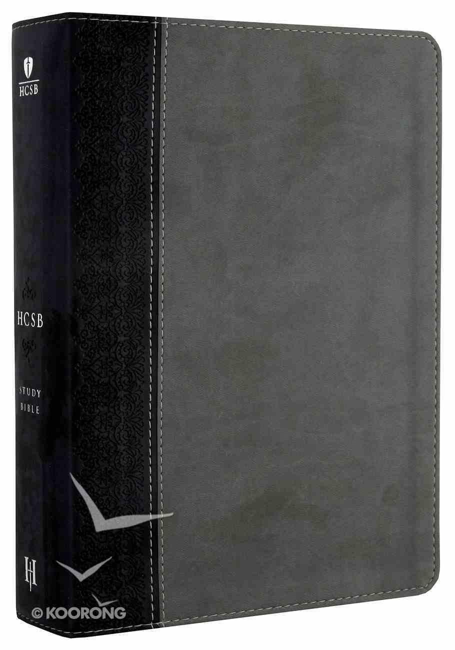 HCSB Study Bible Black/Grey Imitation Leather