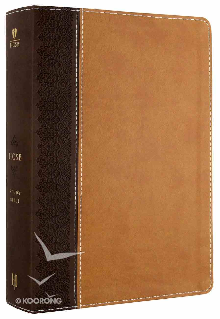 HCSB Study Bible Brown/Tan Imitation Leather