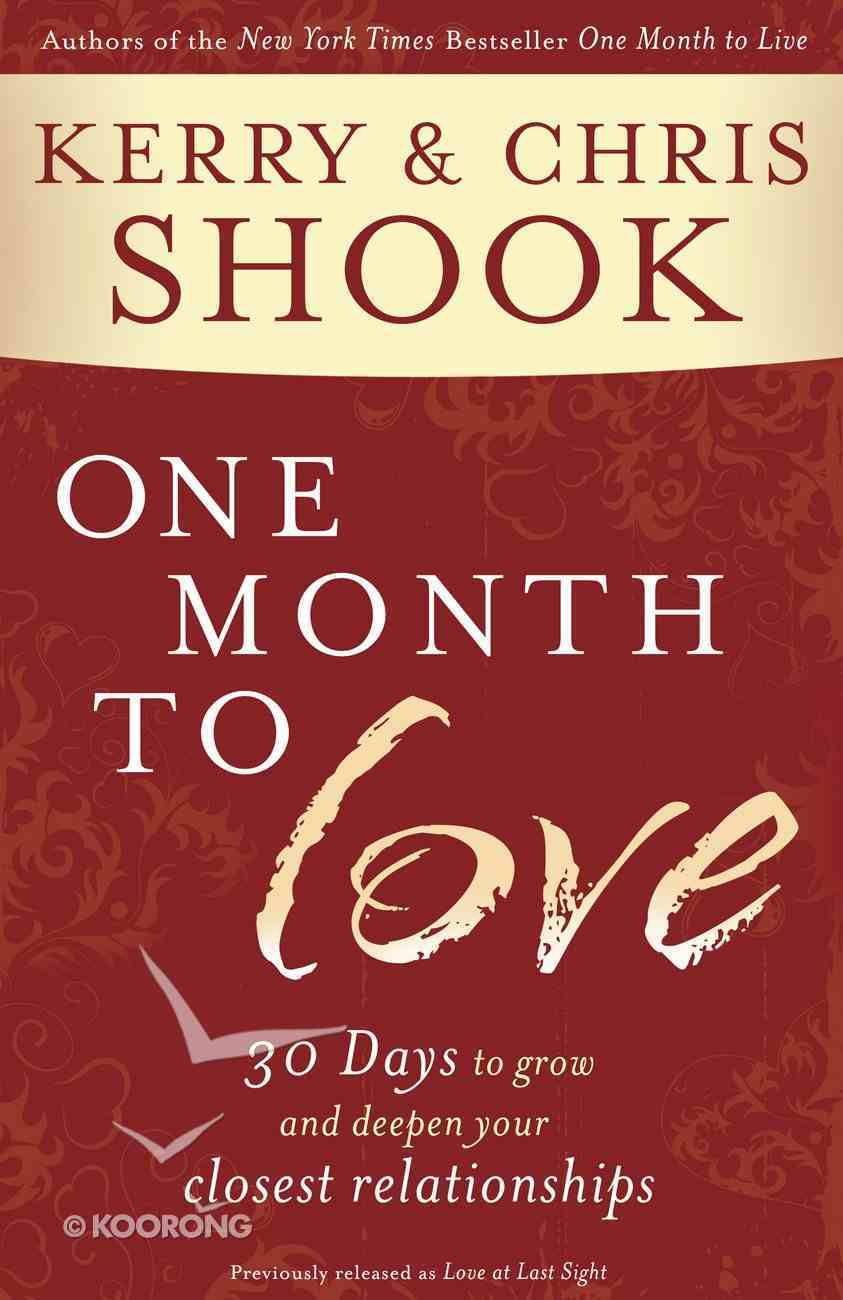 One Month to Love Paperback