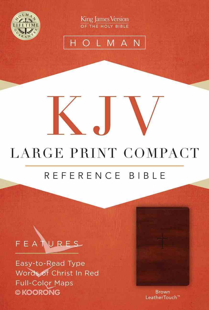KJV Large Print Compact Reference Brown Bible Imitation Leather