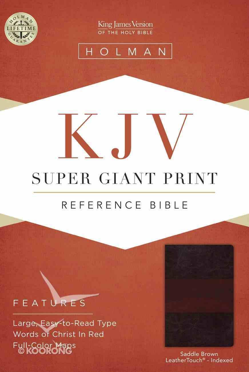 KJV Super Giant Print Reference Bible Saddle Brown Indexed Imitation Leather