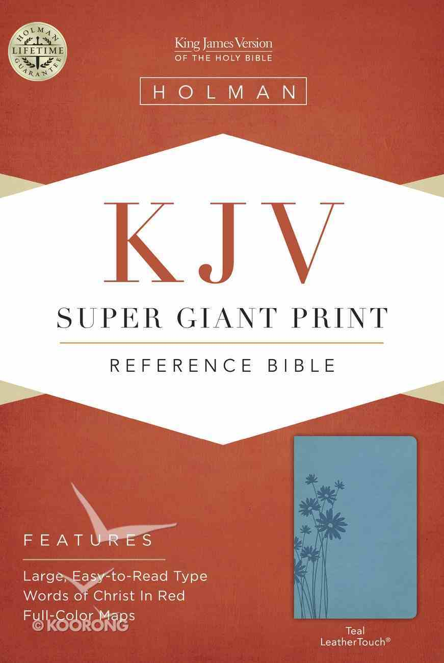 KJV Super Giant Print Reference Bible Teal Leathertouch Imitation Leather