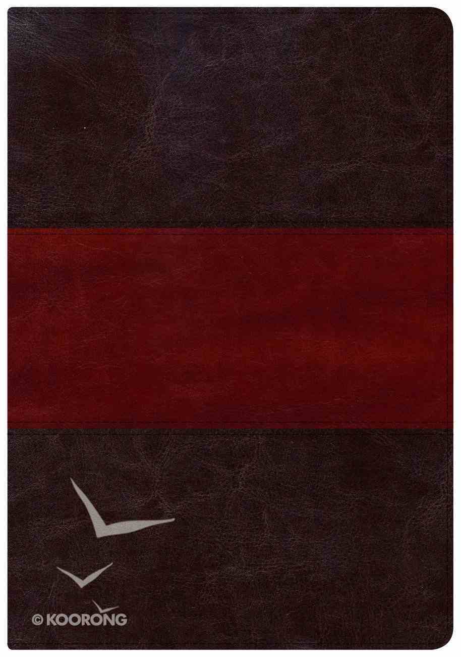 NKJV Holman Study Bible Large Print Edition Saddle Brown Imitation Leather