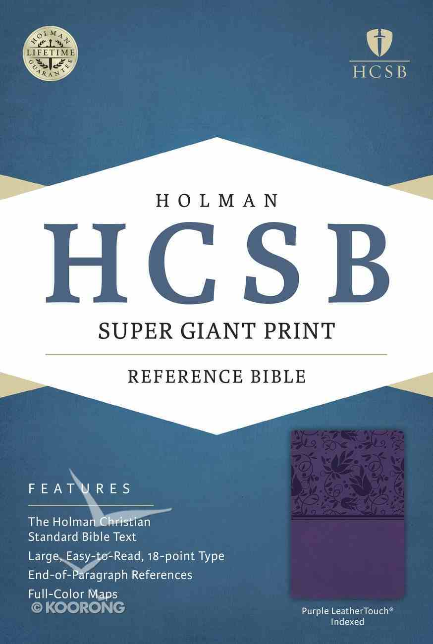 HCSB Super Giant Print Reference Bible Purple Leathertouch Indexed Imitation Leather