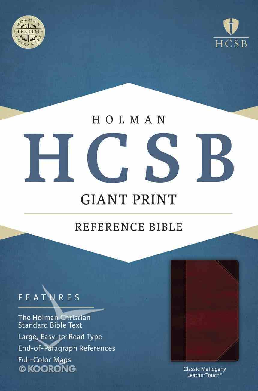 HCSB Giant Print Reference Bible Classic Mahogany Leathertouch Imitation Leather