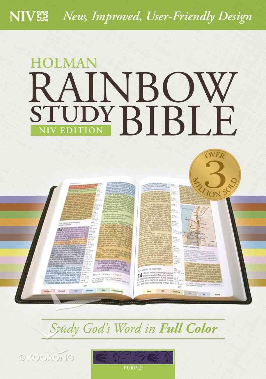 NIV Rainbow Study Bible Purple Indexed Imitation Leather