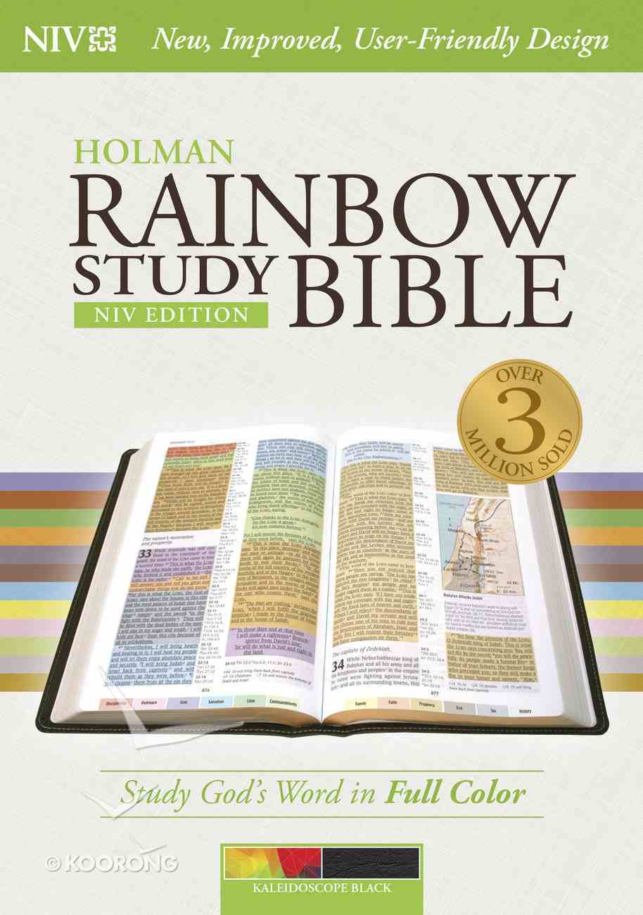 NIV Rainbow Study Bible Kaleidoscope Black Indexed Imitation Leather
