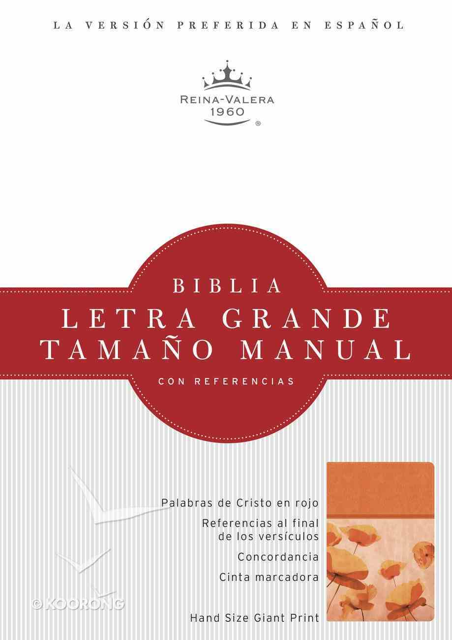 Rvr 1960 Biblia Letra Grande Tamano Manual Damasco/Coral Simil Piel (Spanish Bible) Premium Imitation Leather