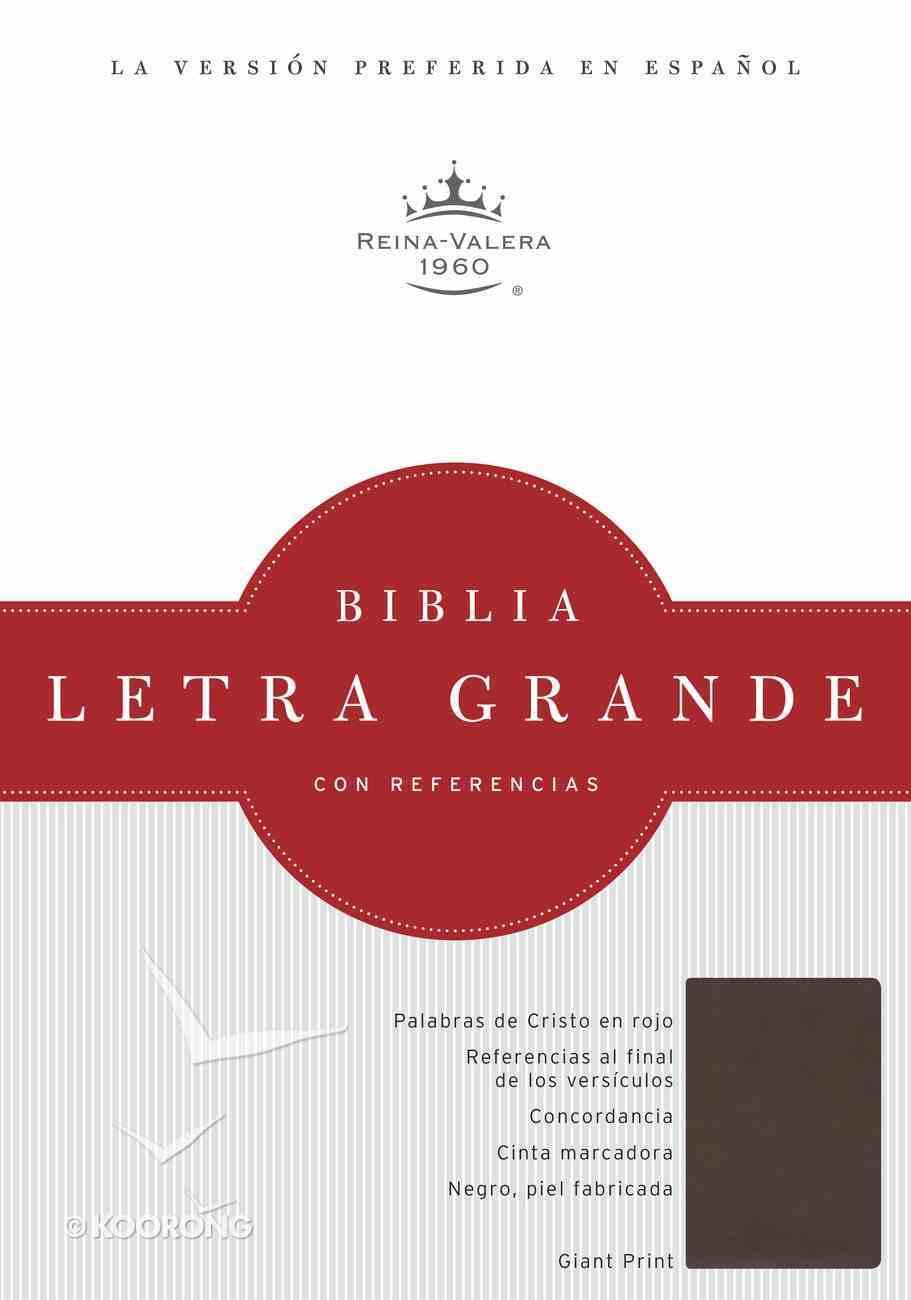 Rvr 1960 Biblia Letra Grande Chocolate Simil Piel (Spanish Bible) Premium Imitation Leather