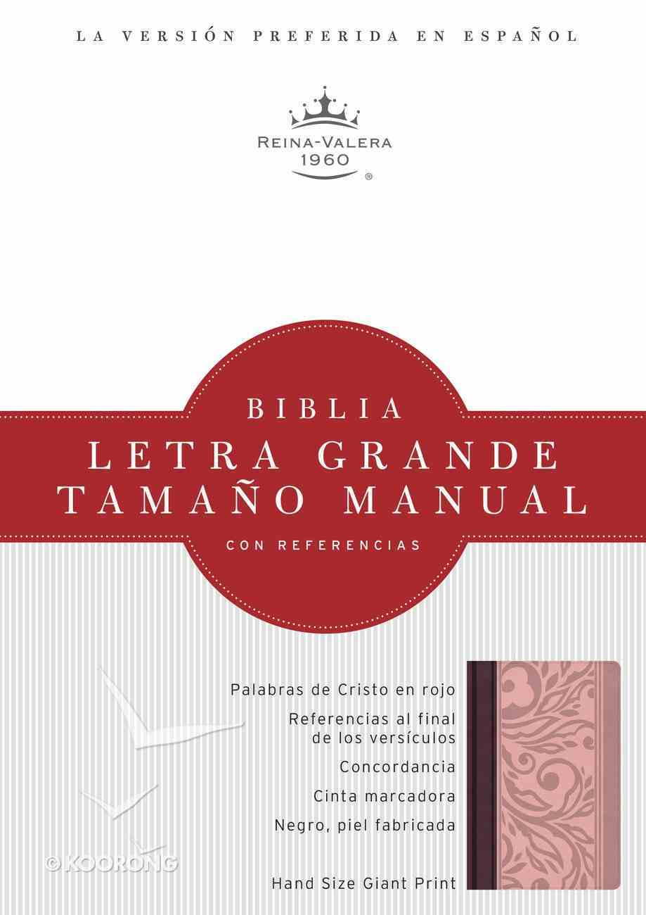 Rvr 1960 Biblia Letra Grande Tamano Manual Borravino/Rosado Simil Piel (Spanish Bible) Premium Imitation Leather