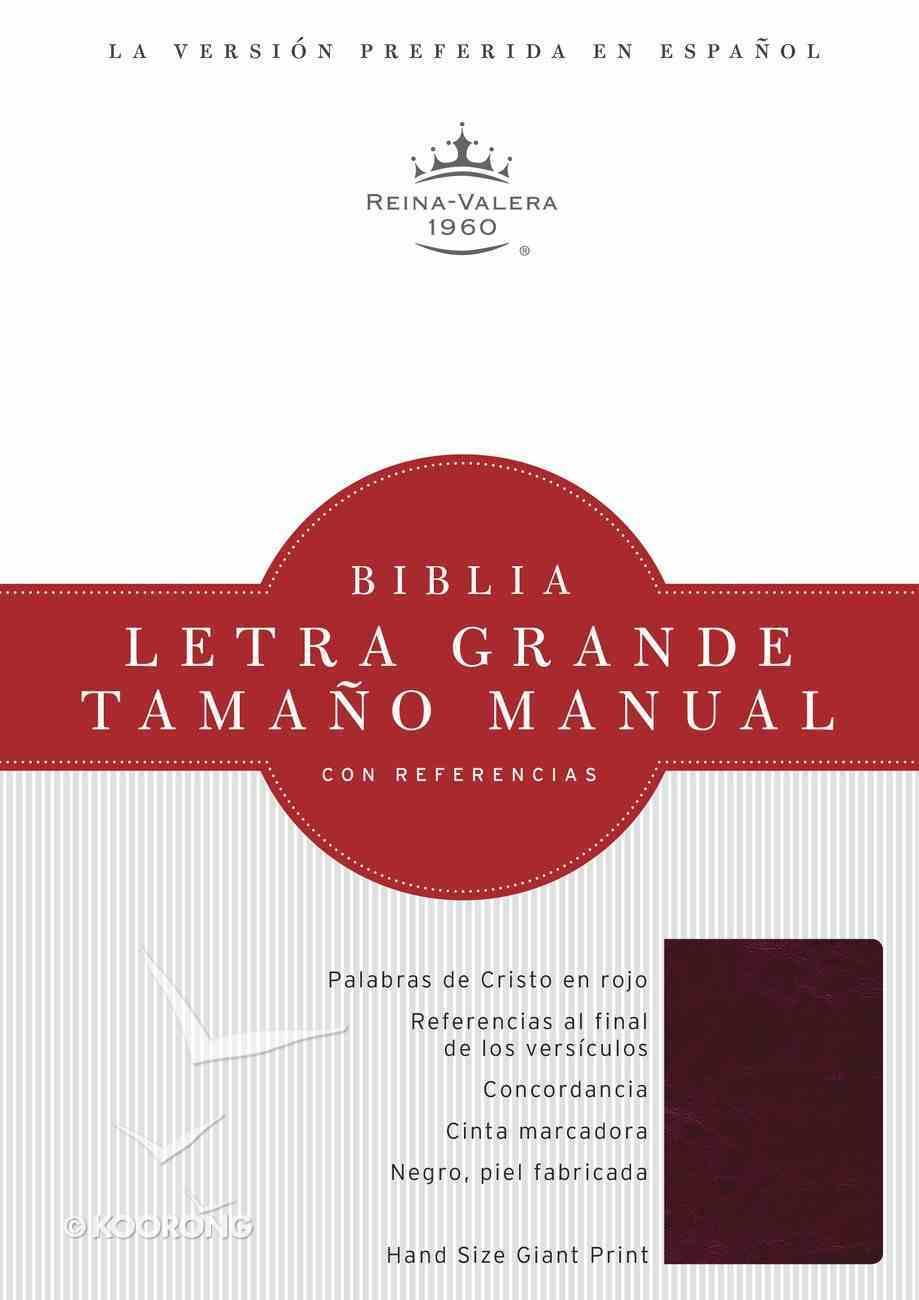 Rvr 1960 Biblia Letra Grande Tamano Manual Borravino Perlado Simil Piel (Spanish Bible) Premium Imitation Leather