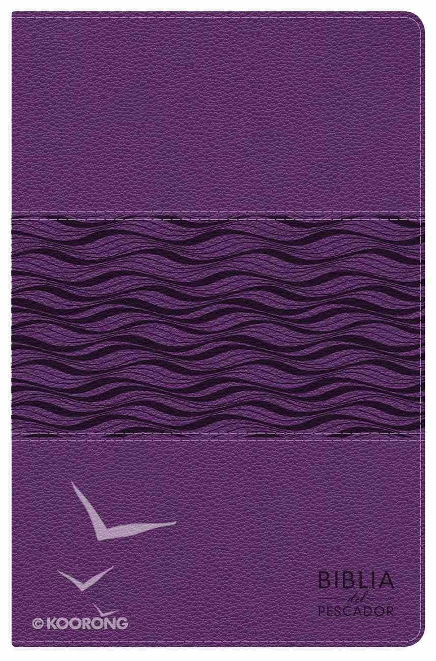 Ntv Biblia Del Pescador Violeta Perlado Simil Piel Premium Imitation Leather