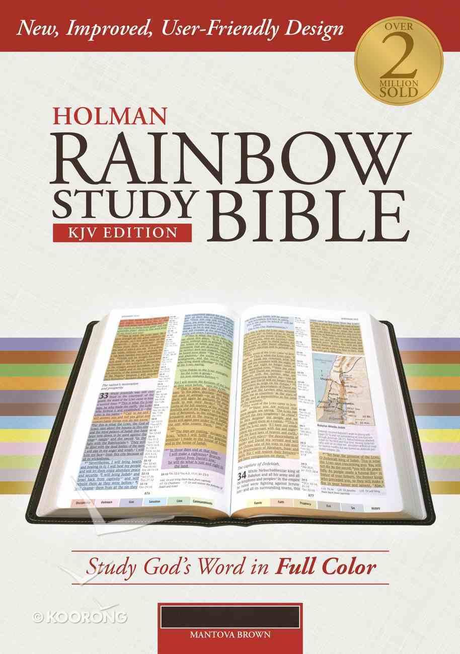 KJV Holman Rainbow Study Bible Brown Premium Imitation Leather