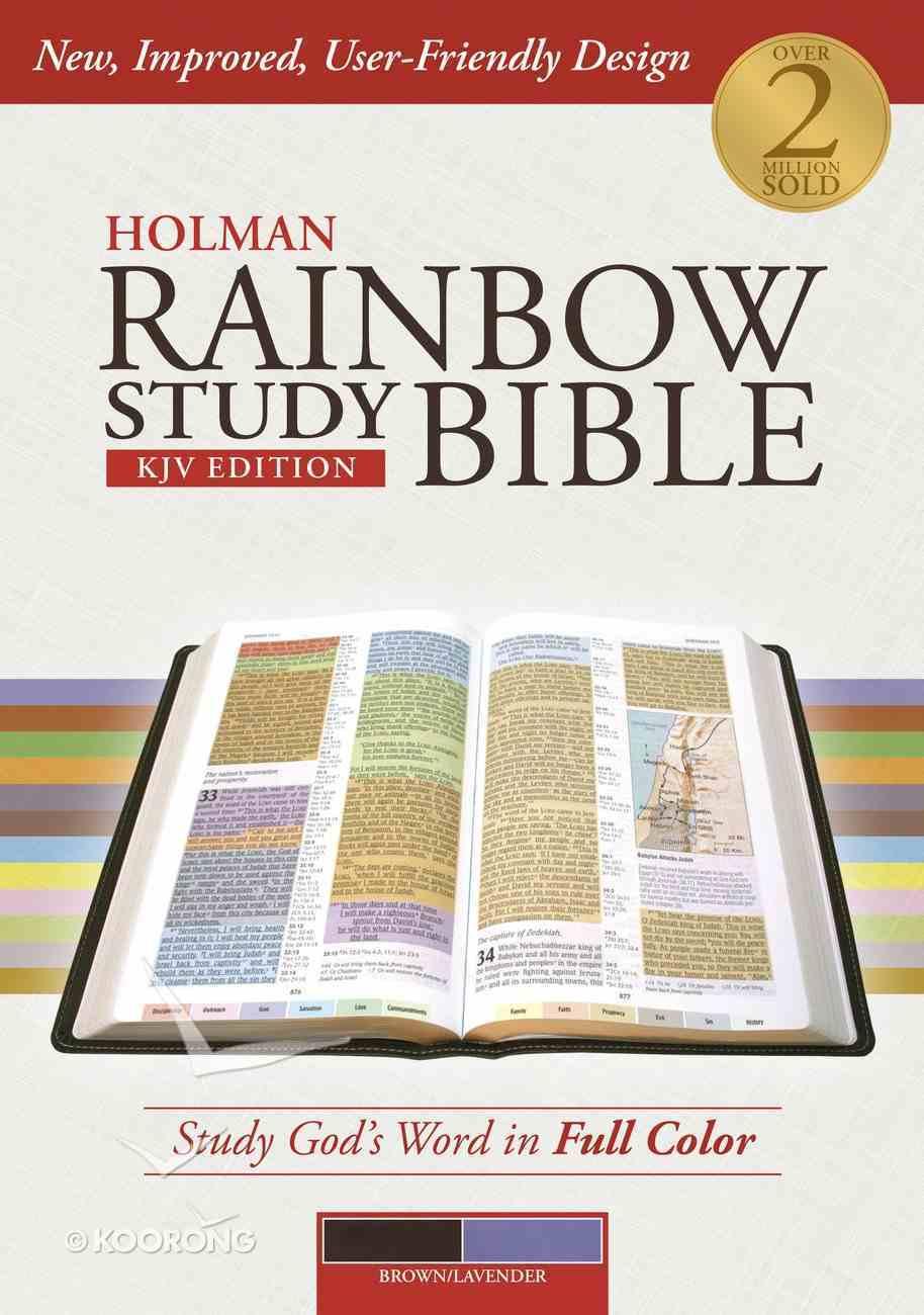 KJV Holman Rainbow Study Bible Lavender/Chocolate Premium Imitation Leather
