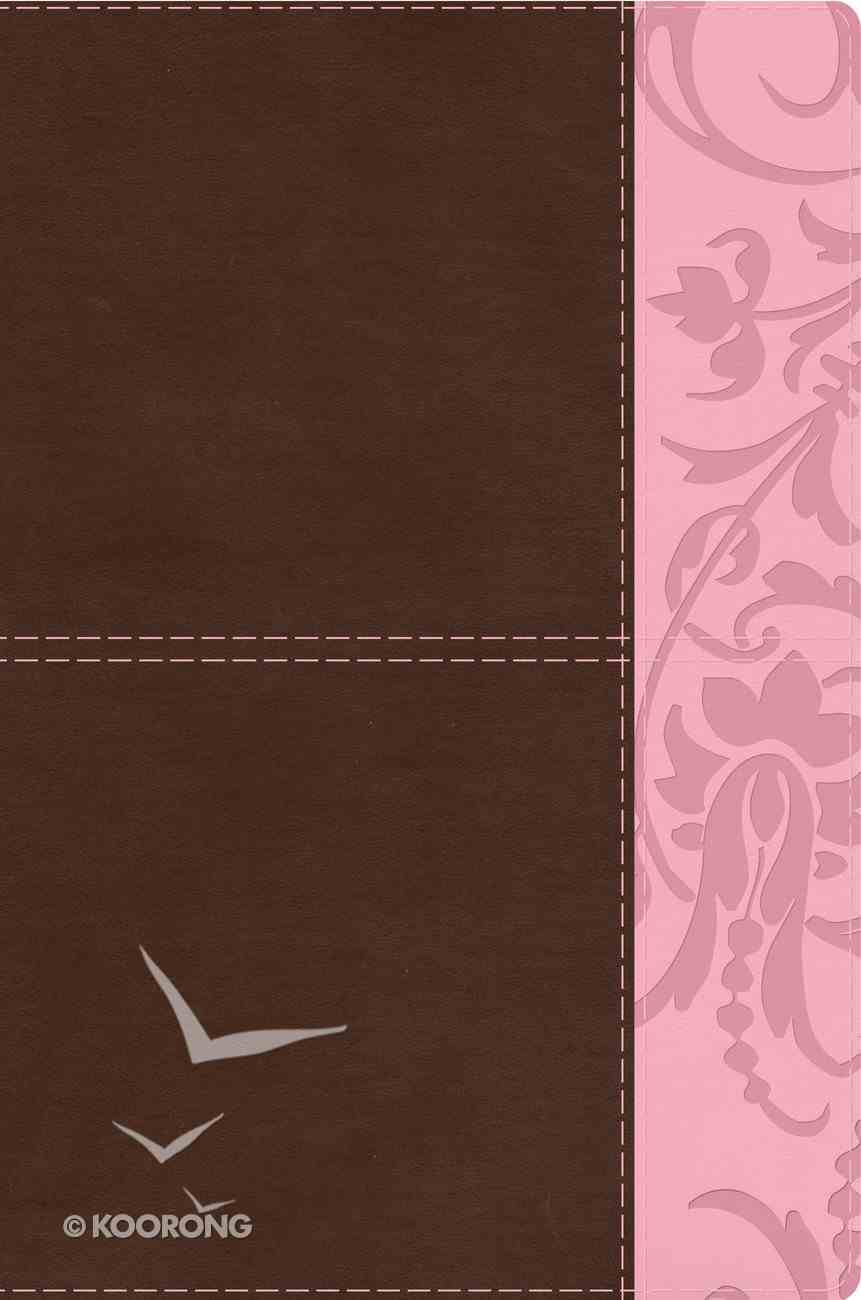 HCSB Study Bible For Women Brown/Pink Premium Imitation Leather