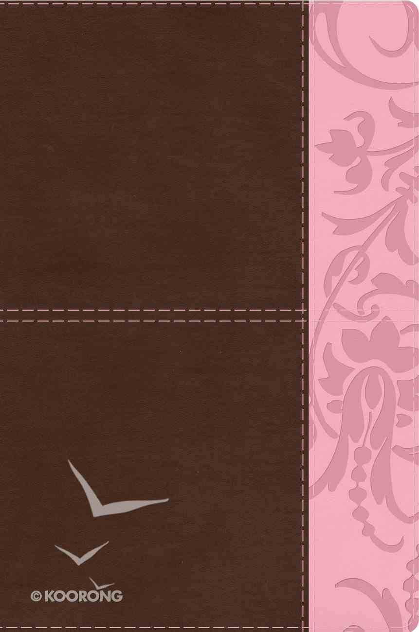 HCSB Study Bible For Women Indexed Brown/Pink Premium Imitation Leather