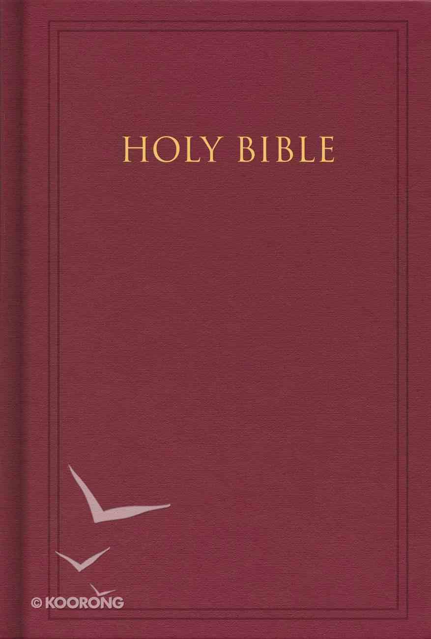 KJV Pew Bible Deep Garnet Maroon Hardback